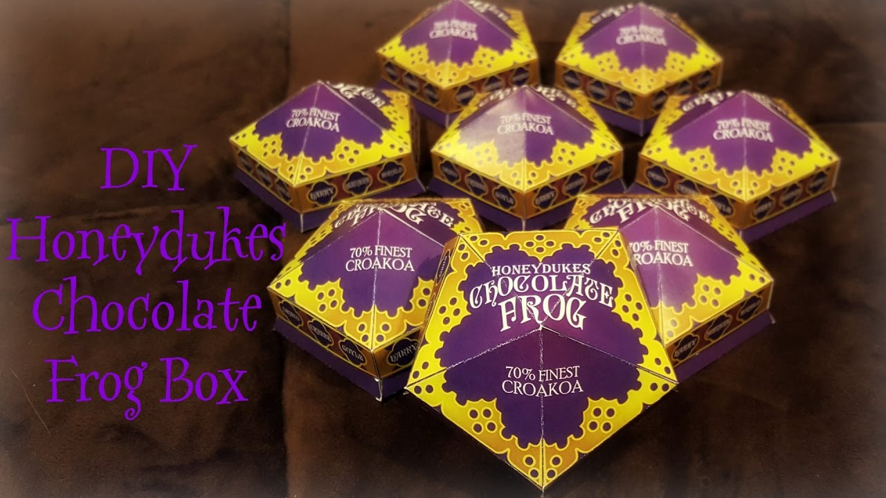 Diy Harry Potter Chocolate Frog Box Tutorial