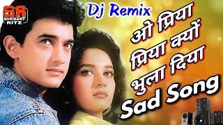 Dj Sad Mix | O Priya Priya Kyon Bhula Diya | Dil | Hindi Dj Song | Old Is Gold | ShriSantRitz |