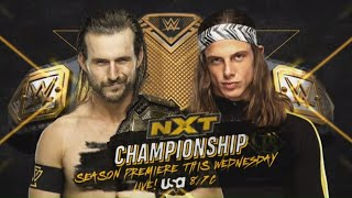 NXT Champion Adam Cole and Matt Riddle are poised for battle this Wednesday on USA Network