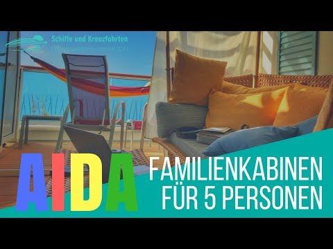AIDA Familienkabinen für 5 Personen - 5er Belegung auf AIDA Kreuzfahrten / Kabinenumbau