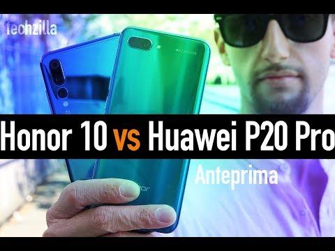 Honor 10 vs Huawei P20 Pro: PRIME IMPRESSIONI e confronto