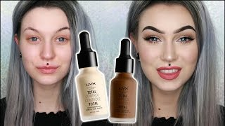 NEW! NYX Total Control Drop Foundation | Wear Test, First Impression & Review