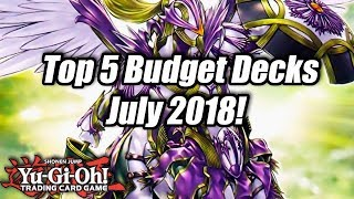 Yu-Gi-Oh! Top 5 Competitive Budget Decks for the July 2018 Format!