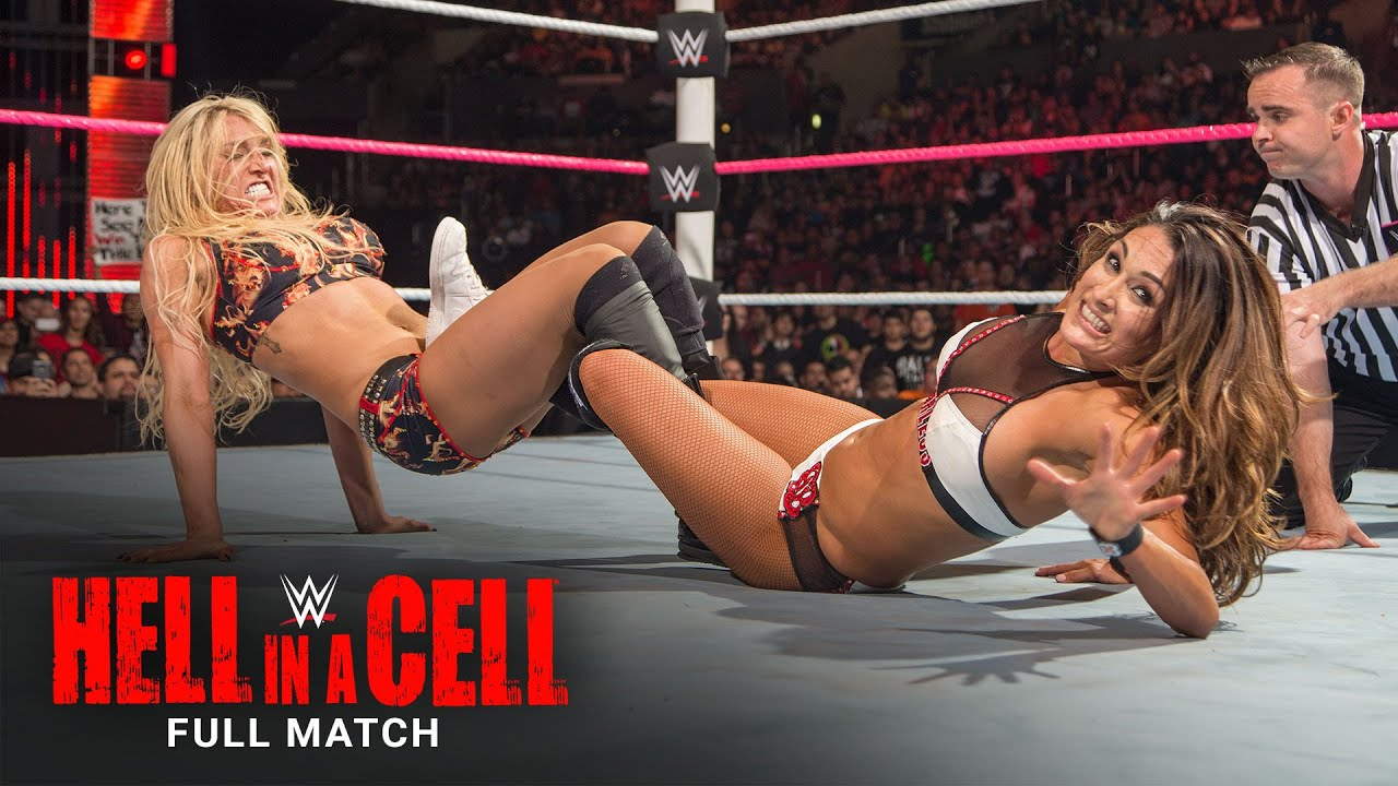 FULL MATCH - Charlotte Flair vs. Nikki Bella - Divas Title Match: WWE Hell in a Cell 2015