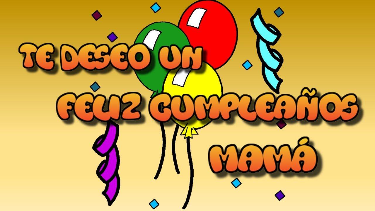Tarjeta virtual animada de feliz cumpleaños mamá YouTube