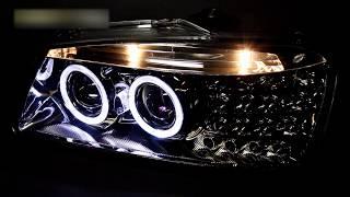 Тюнинг фары Хендай Акцент с ангельскими глазками   Headlights Hyundai Accent