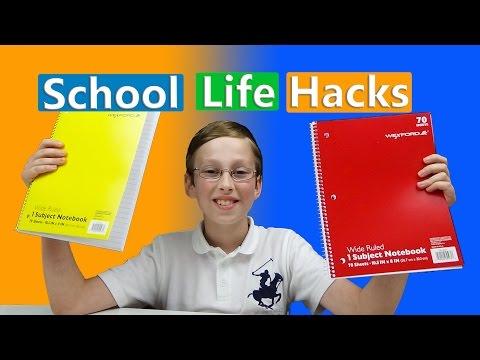 BACK TO SCHOOL LIFE HACKS!! | COLLINTV