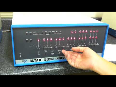 Altair 8800 - Video #20 - Disk Boot from Paper Tape