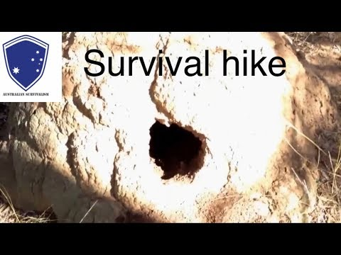 Survival hike (Australian Survivalism) 4 day hike The western side of the great dividing range Qld