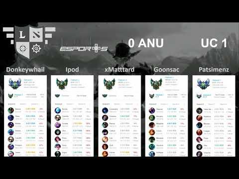 ANU vs UC League of Legends Showmatch 3 − Game 2 Full
