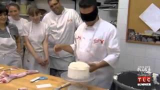 Cake Boss: Buddy Decorating a Cake Blindfolded
