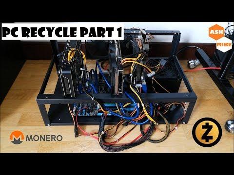 ZCash/Zencash/XMR/ETN Mining Rig GTX 970 & R9 270 - PC Recycle Part 1