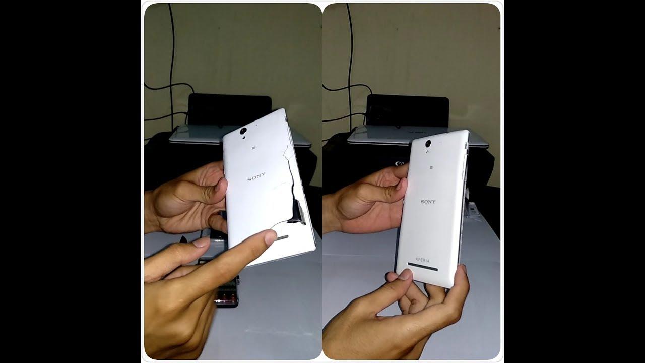 Cara Mudah Ganti Baterai Tanam Sony Xperia C3 Dan Lepas Back Cover