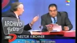 Jorge Lanata con Nestor Kirchner Entrevista Elecciones presidenciales 2003