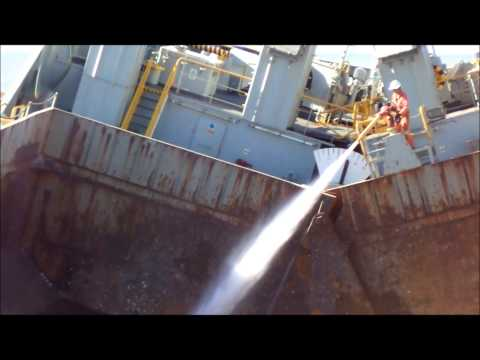 Split Hopper Barge Dump
