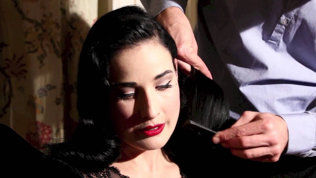 2835d05c4f24 Dita Von Teese on the history of her hair - YouTube