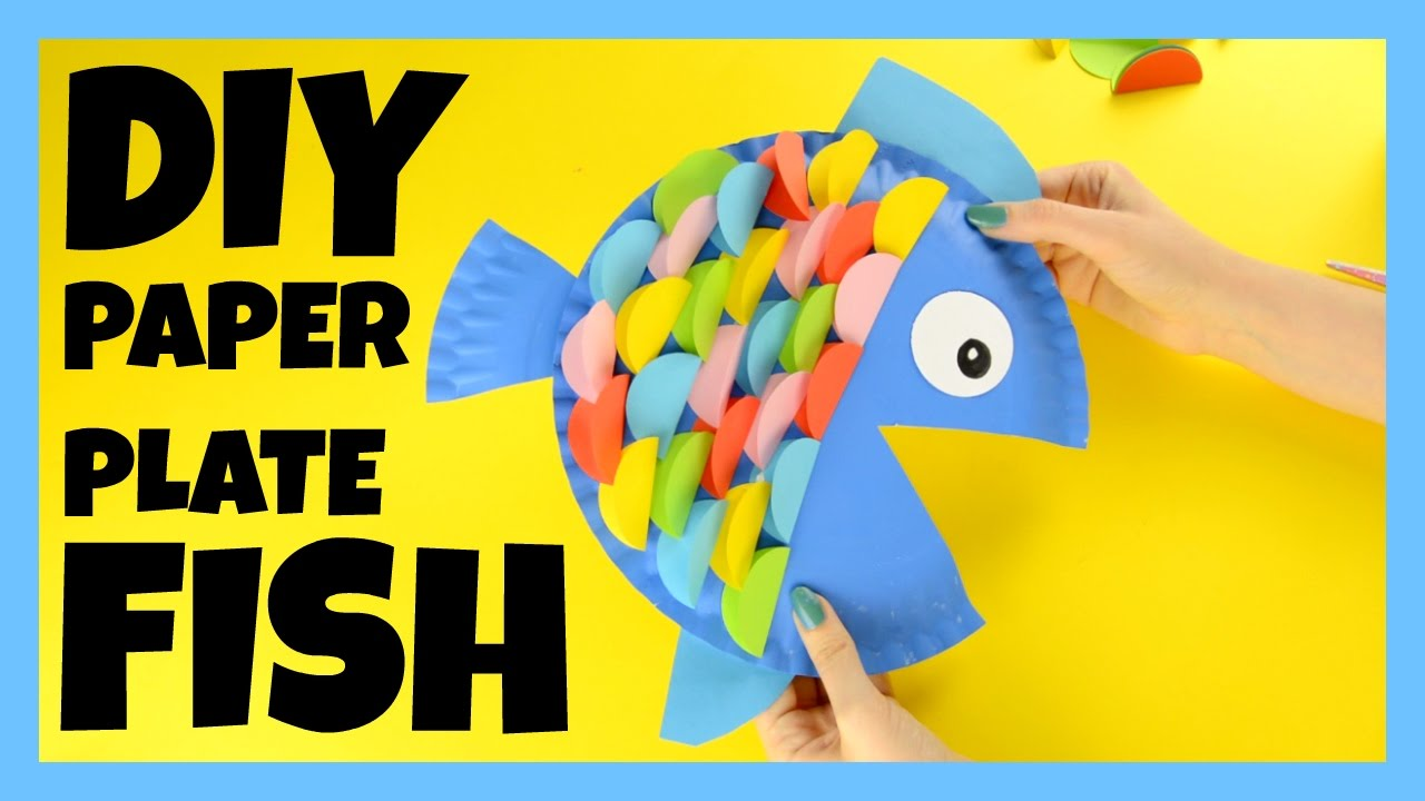 How To Make A Paper Plate Fish Fish Craft Ideas Youtube