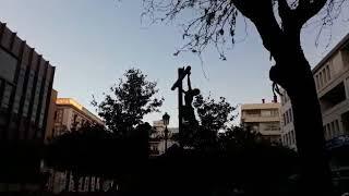 El Cristo de la Buena Muerte cruzando la Plaz de la Magdalena (Vídeo: Álvaro Ochoa)