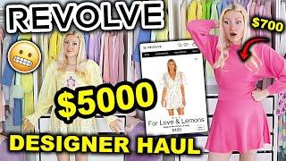I SPENT $5000 ON REVOLVE!!! DESIGNER TRY ON HAUL 2021   FOR LOVE AND LEMONS, LOVE SHACK FANCY & MORE