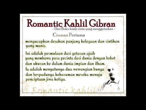 puisi kahlil gibran - Ciuman pertama