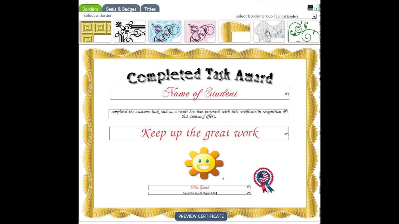 certificate creator - Smartdraw Certificate Templates