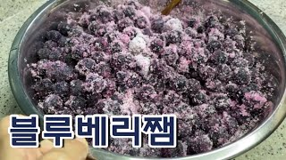 [찌르]냉동과일의 변신 블루베리잼 만들기 Making …