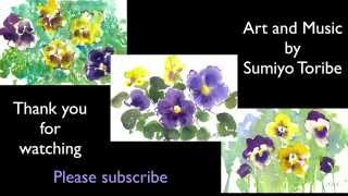 How to paint Pansy in 3 different technique in watercolor