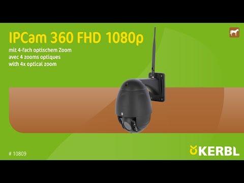 IPCam 360 FHD 1080p mit 4-fach optischem Zoom (#10809) (DE)