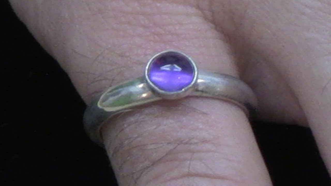 Soldering a Bezel Cup to a Silver Ring and Setting a