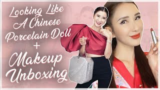 LOOKING LIKE A CHINESE PORCELAIN DOLL + MAKEUP UNBOXING | JAMIE CHUA