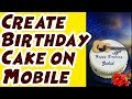 How to Create Name Write Happy Birthday Cakes🎂 & Card Pictures in Urdu  | Hindi by MalomatiTube