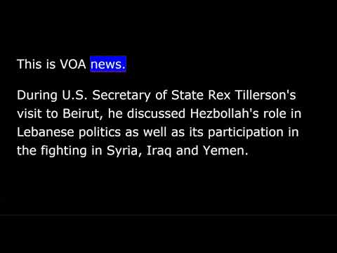VOA news for Friday, February 16th,  2018