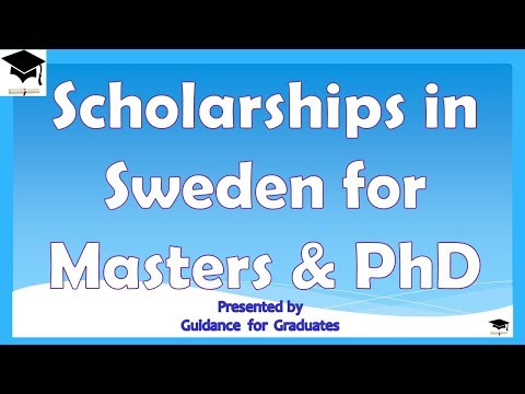 Scholarships in Sweden for Masters and PhD, Study in Sweden,