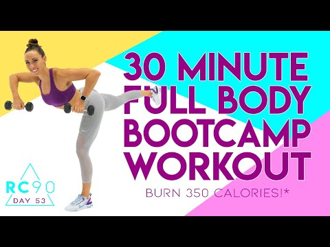 30 Minute Full Body Bootcamp Workout 🔥Burn 350 Calories!* 🔥 Day 53 | RC90