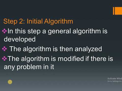 10th Computer Science||Define Algorithm.Explain the strategy of developing an algorithm
