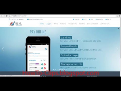 How To Check And Pay BSNL Landline Telephone Bill Without Login