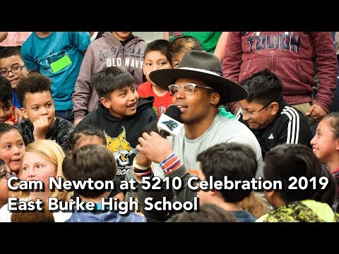 Cam Newton at the 5210 Celebration 2019 - East Burke High School