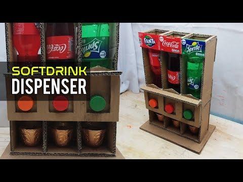 Cara Membuat Dispenser Soft Drink Dari Kardus Bekas | Kerajinan Tangan