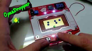 OpenDropper - Frogger 8bit Game on Digital Microfluidics Device