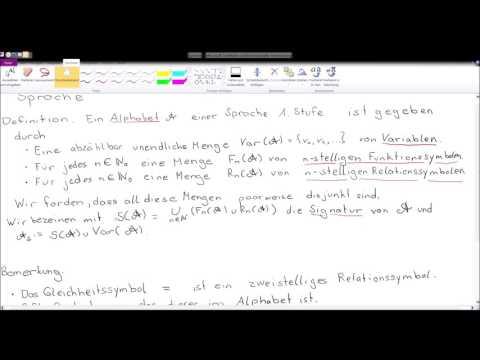 Mathematische Logik - Grundlagen - Sprache - 1