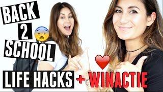 BACK TO SCHOOL LIFEHACKS + WINACTIE