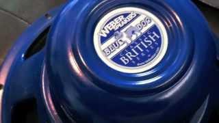 Bugera V22 Speaker comparisons, Weber Alnico Blue Dog, Celestion Vintage 30, Eminence Tonespotter