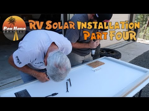 RV Solar Installation - Part 4: Connecting Solar Controller, Sub Panel & Prepping the Panels  🚐🌞