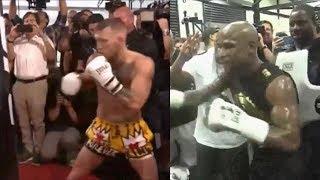 Mayweather VS  McGregor Side By Side