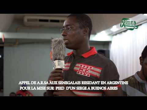 Appel de A.R.S.A aux Sénégalais residant en Argentine pour la mise sur pied d'un siège à Buenos Aire
