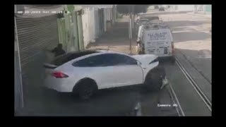 Tesla X accident in Mayaguez, Puerto Rico