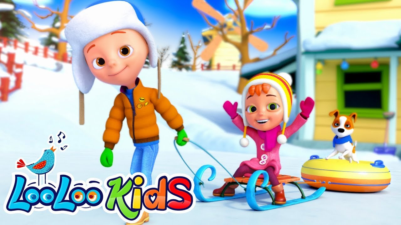 My Happy Sled - Best Winter Christmas Songs For KIDS | LooLoo KIDS