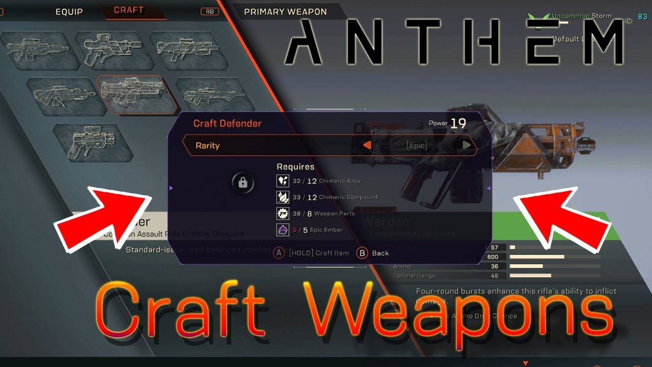anthem how to craft