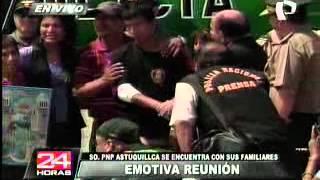 VIDEO: emotivo encuentro del suboficial Luis Astuquillca y sus familiares thumbnail