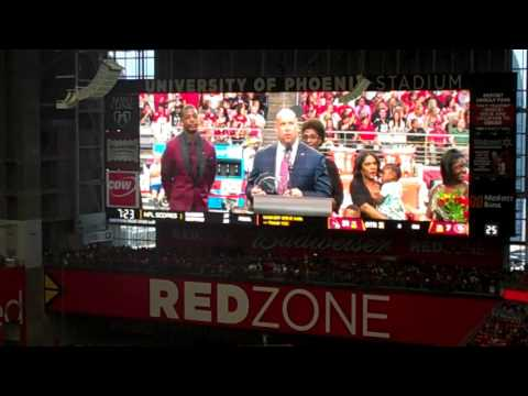Adrian Wilson Ring of Honor Ceremony 9/27/15